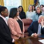Mother Of Slain Chicago Teen Who Was Victim Of Sex Trafficking Attends White House Bill Signing